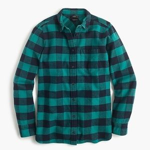 J Crew Flannel Boy Shirt Buffalo Check Button Down